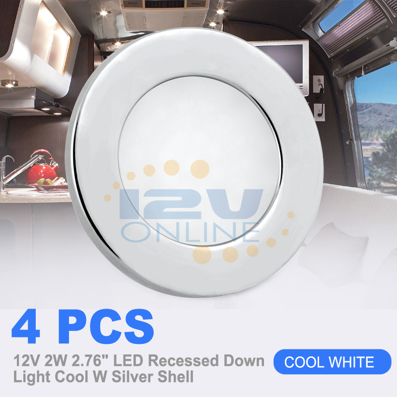 "12v Led Under Cabinet Counter Strip Light Rv Camper: 4*12V 2.76"" LED Recessed Ceiling Down Light RV Cargo Boat"