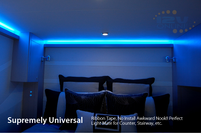 Led 12v 16 Quot Flexible Strip Light 3528 Blue Super Bright