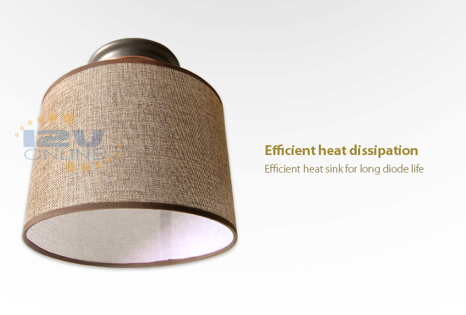 3 led bulbs for soft lighting fabric lampshade lightweight cylindrical energy saving and long lasting surface mount design size 9 x 9 x 944 inch brown fabric lighting