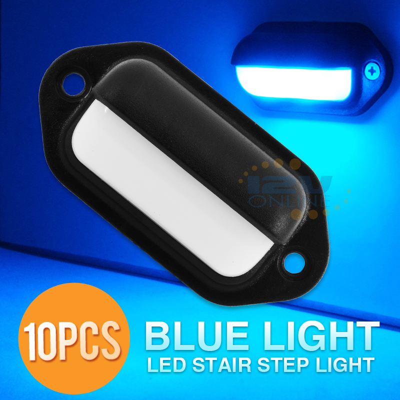 10 Led 12v Stair Step Light Rv Motorhome Marine Waterproof