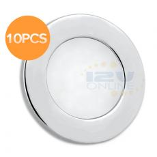 "10pcs 12Volt 2.76"" LED Recessed Ceiling Light RV Cargo Coach Boat Indoor Under Cabinet Down Light Warm White"
