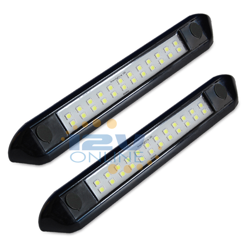 "2x Led Under Cabinet Strip Lights 12w Led 12v Driver: 2x12V LED 9.84"" Waterproof Porch Awning Light RV Trailer"