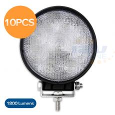 10PCS 27W LED Flood Beam Work Light Cool White