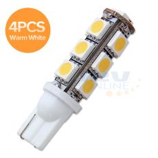 4x12Volt LED T10 921/906/912/922/W5W Wedge Replacement Bulb-13SMD Warm...