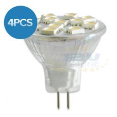 4x12V LED MR11 Replacement Bulb 12-HP-5050-SMD