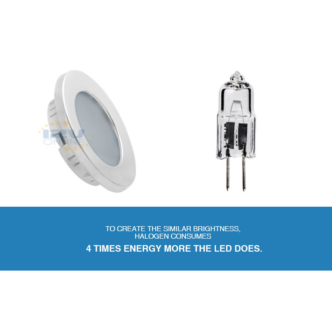 Led 12v 2 76 2w Silver Recessed Ceiling Lighting Rv