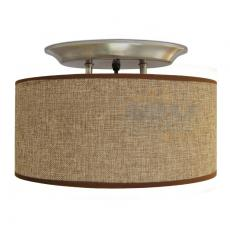 LED 12V Brown Fabric Shade Dinette Ceiling Light RV Boat Hall Bedroom ...