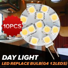 10*LED 12V G4 Replacement Bulb RV Car Boat Marine Interior Cabinet Spo...