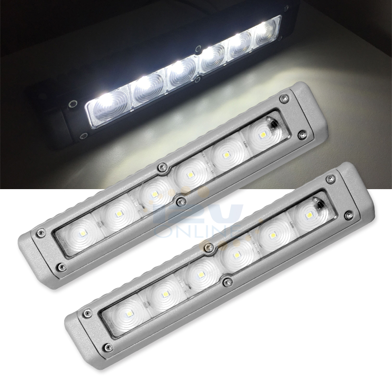 2X12V Gray 11W720lm LED Awning Light RV Trailer Camper Van Boat Exterior Lamp CW
