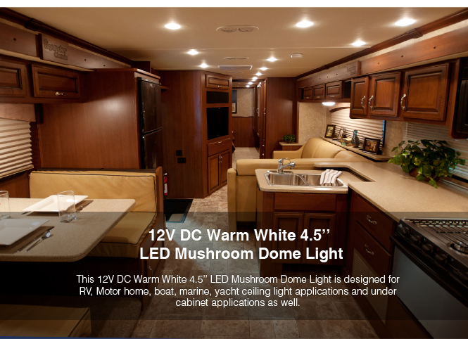 4 led 12v 4 5 u201d ceiling down light rv motorhome cargo boat