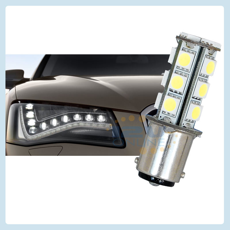 12volt 1142 parallel pin double contact LED Light Car Bulb Cool White ...