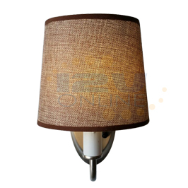 Rv Led Wall Lamps : 12V LED Brown Fabric Shade Wall Sconce RV camper Hall Stairwell Bedroom Decor WW eBay