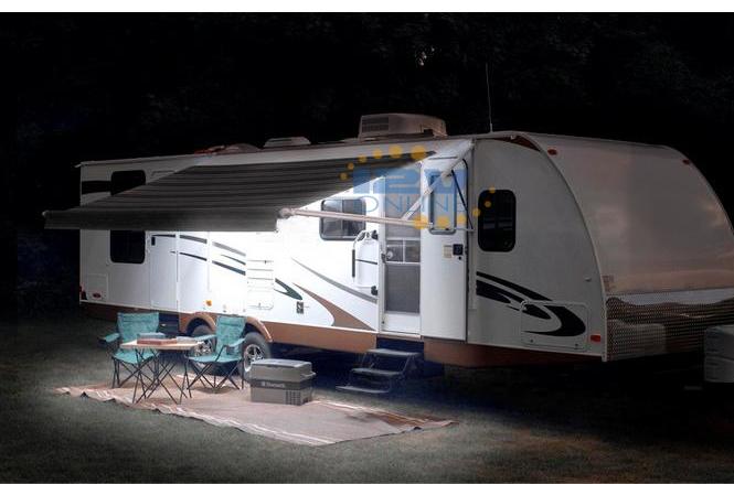 Led 12v 9 84 Quot Black Waterproof Awning Light Rv Caravan