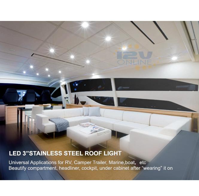 Led 12v 3 Quot 304ss Puck Light Daylight Rv Motorhome Van Boat