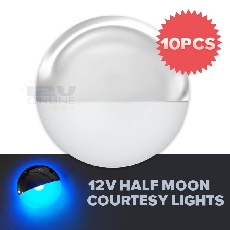 10 Led 12v Courtesy Lights For Marine Boat Rv Trailer Van
