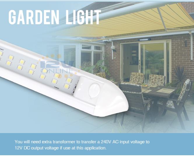 12v waterproof led awning porch bar light rv trailer boat garden