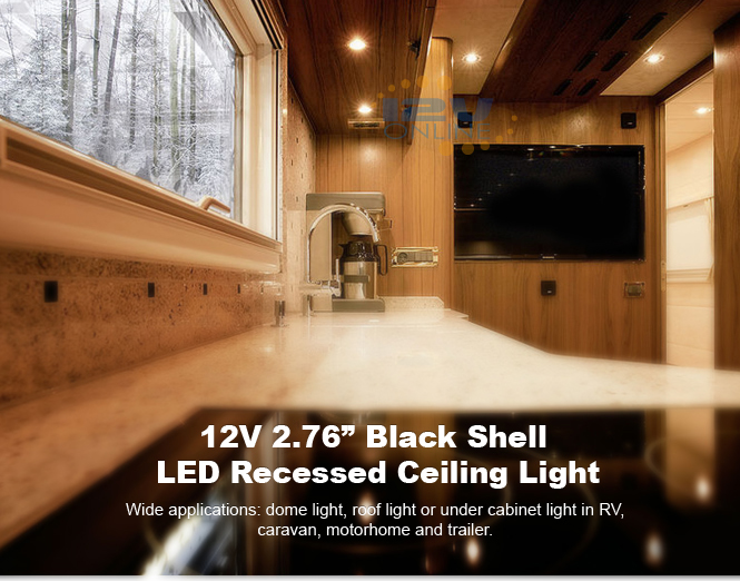 2x2 75 12v led recessed down light rv caravan cabin under cabinet